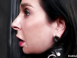 Lezdom bdsm anal toying and fisting
