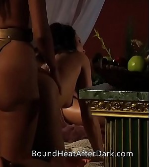 Lesbian Slave's Revenge: Dreaming About Strap-on Threesome