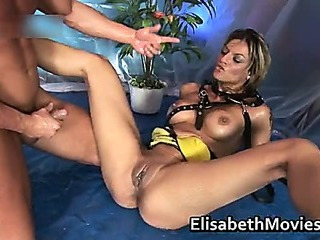 Slutty whore sucks some nice cock