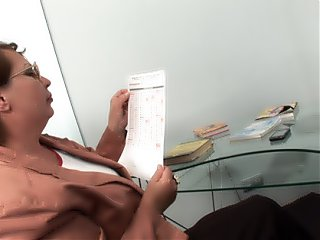 Teacher turns horny from watching her coeds licking each other.